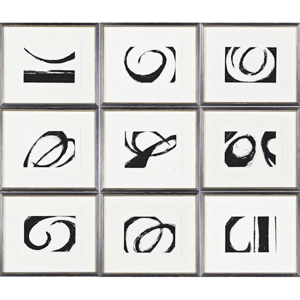 Kinetics Set of 9 Framed Prints