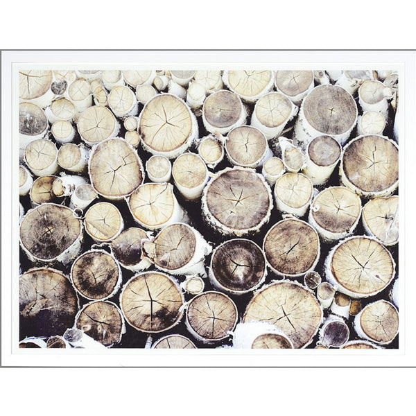 Stacked Birch Framed Print