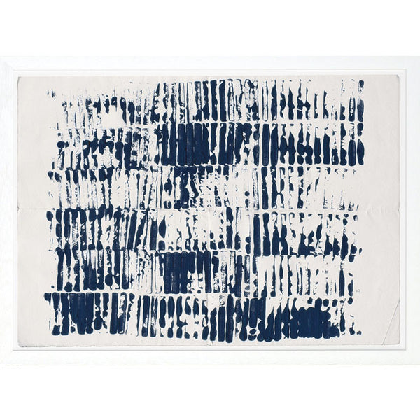 Indigo Repetition Framed Print