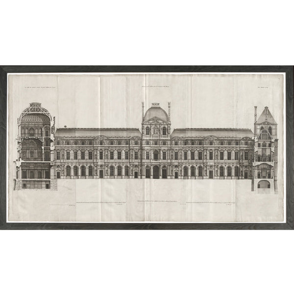 Louvre Elevation Framed Print