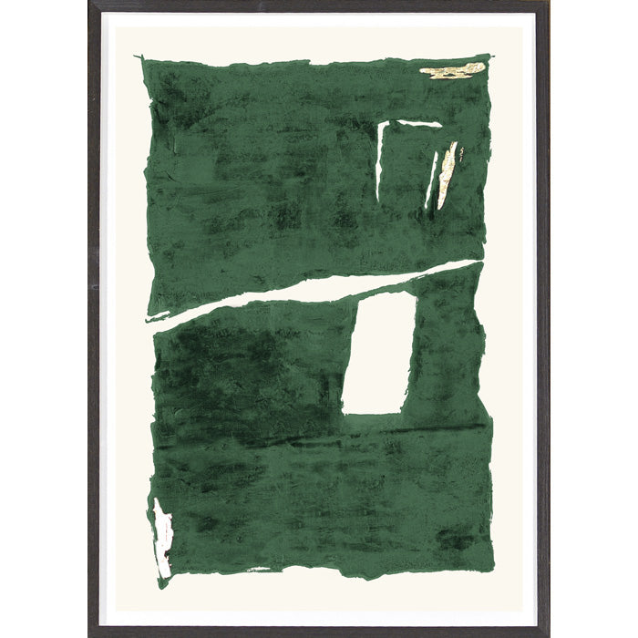 Green Rendition I Framed Print