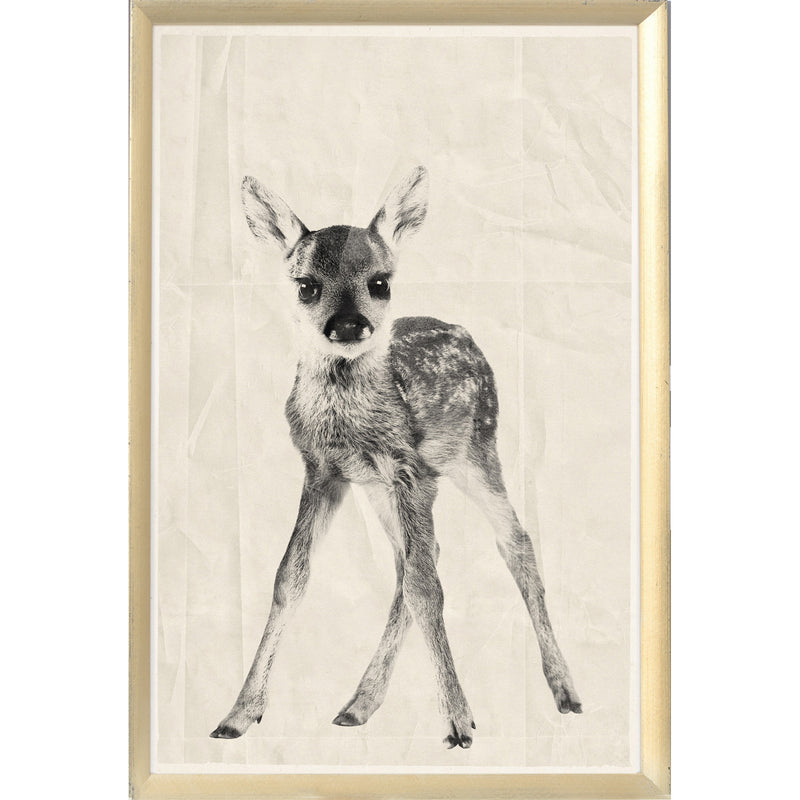 Black Ink Fawn Framed Print
