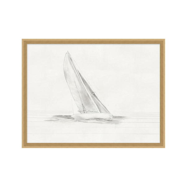 Sailboats 1 Small Framed Print