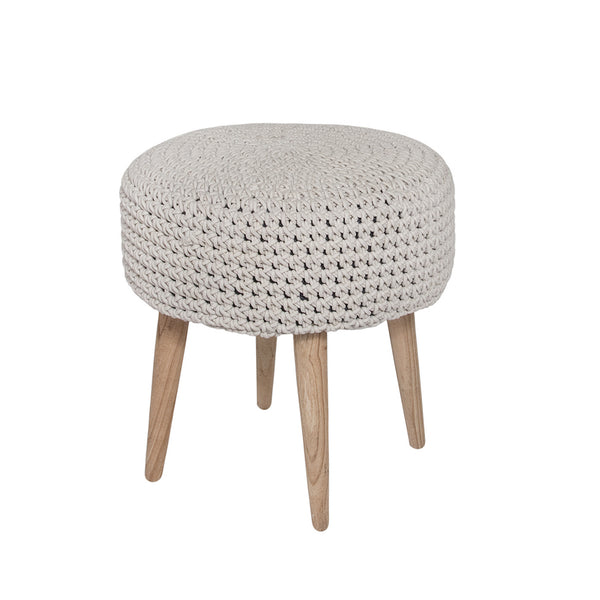 Morocco Light Grey Ottoman