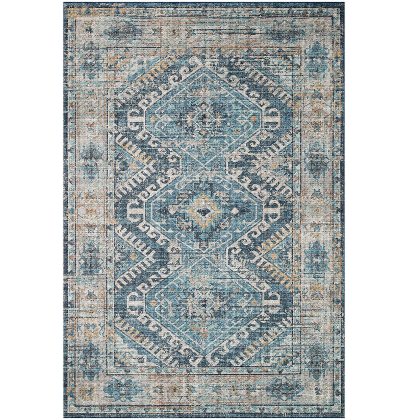 Skye Denim / Natural Rug