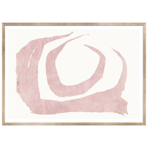 Organic Blush Framed Print