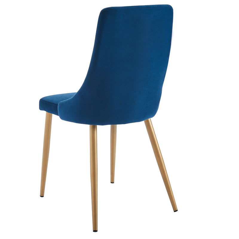 Carmen Blue Velvet Dining Chair
