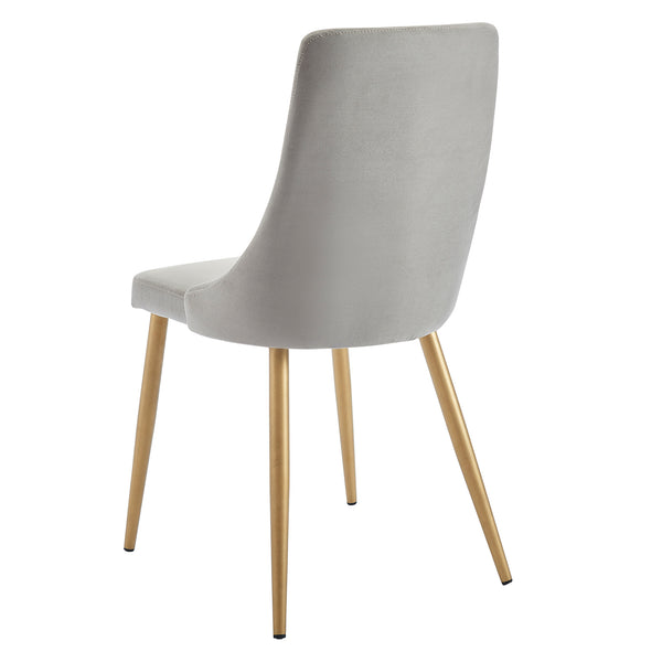 Carmen Grey Velvet Dining Chair