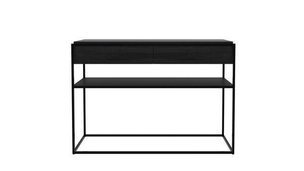 Oak Monolit Console Table - Black