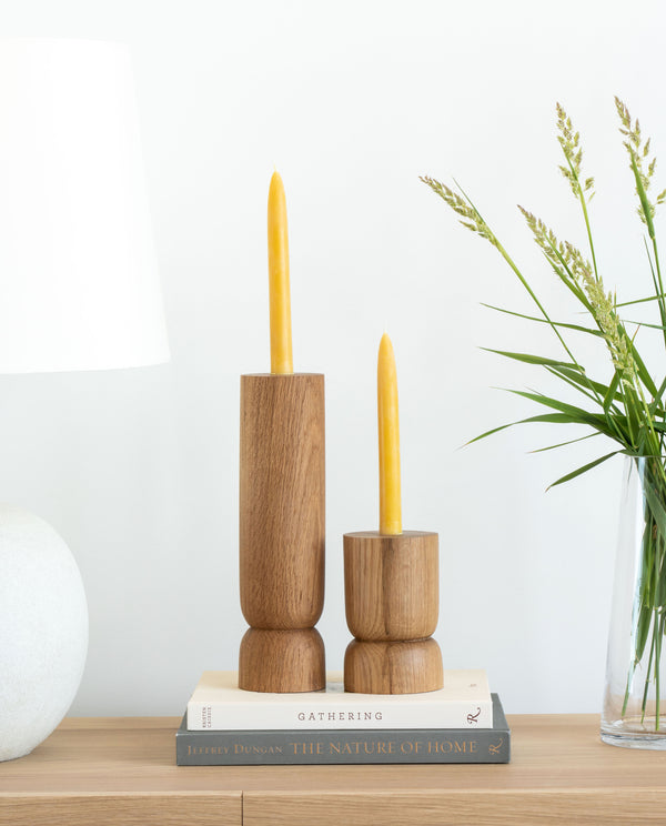 Beeswax Taper Candles - Natural