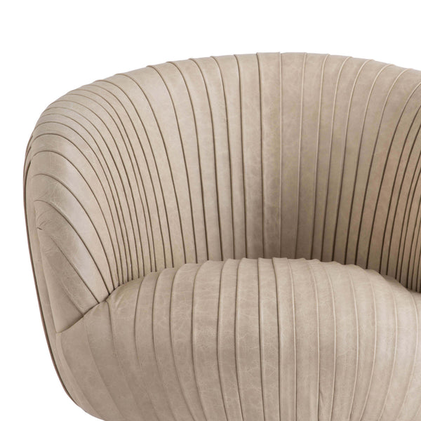 Brae Leather Armchair - Cappuccino