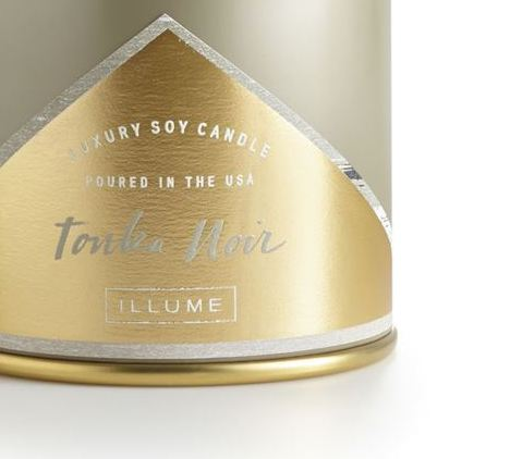 Tonka Noir Large Tin Candle