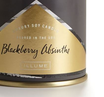 Blackberry Absinthe Large Tin Candle