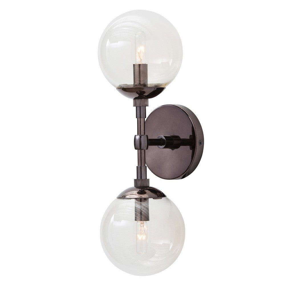 Polaris Sconce Brown Nickel