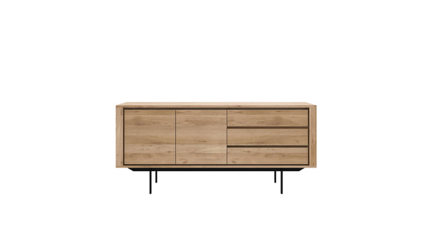 Oak Shadow Metal Base Sideboard