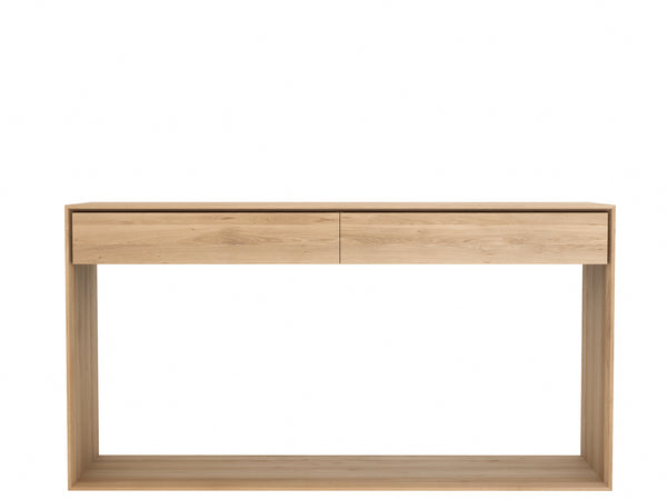 Oak Nordic Console Table