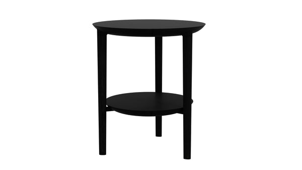 Oak Bok Side Table - Black