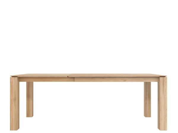 Oak Slice Extendable Dining Table