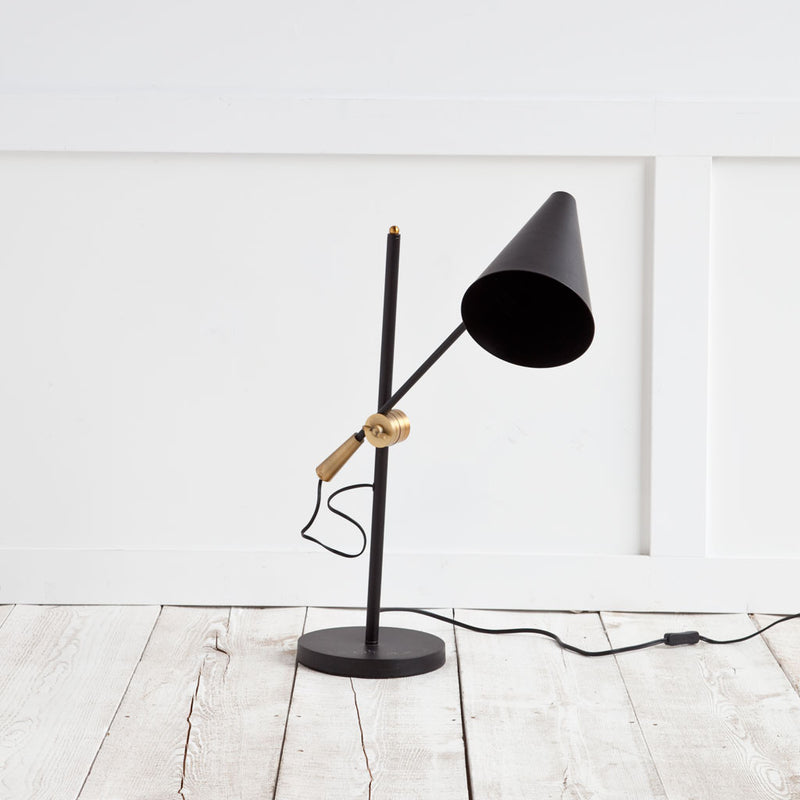 Hendrix Black Desk Lamp