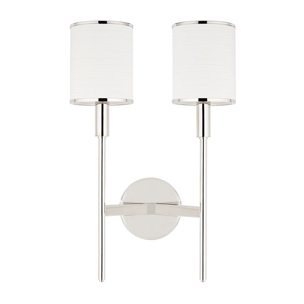 Abbey Double Wall Sconce - Polished Nickel - Floor Model
