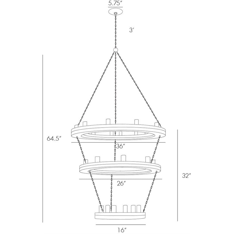 Salter Three Tier Pendant