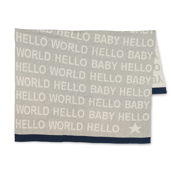Hello Baby/Hello World Throw