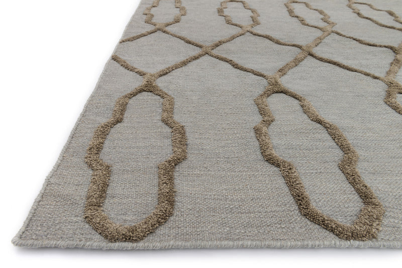Adler Neutral on Slate Diamond Rug