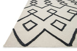 Black on Ivory Diamond Rug