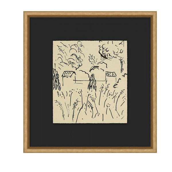 Abstract Village Framed Print