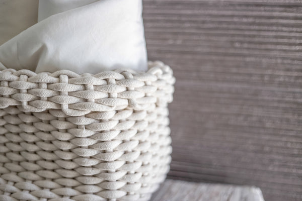 Raffa Cotton Basket/White
