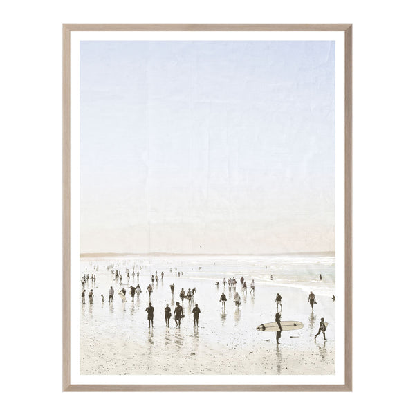 Beach Surf II Framed Print