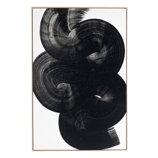 Black Flow Framed Print