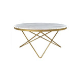 Charlie Coffee Table - Brass