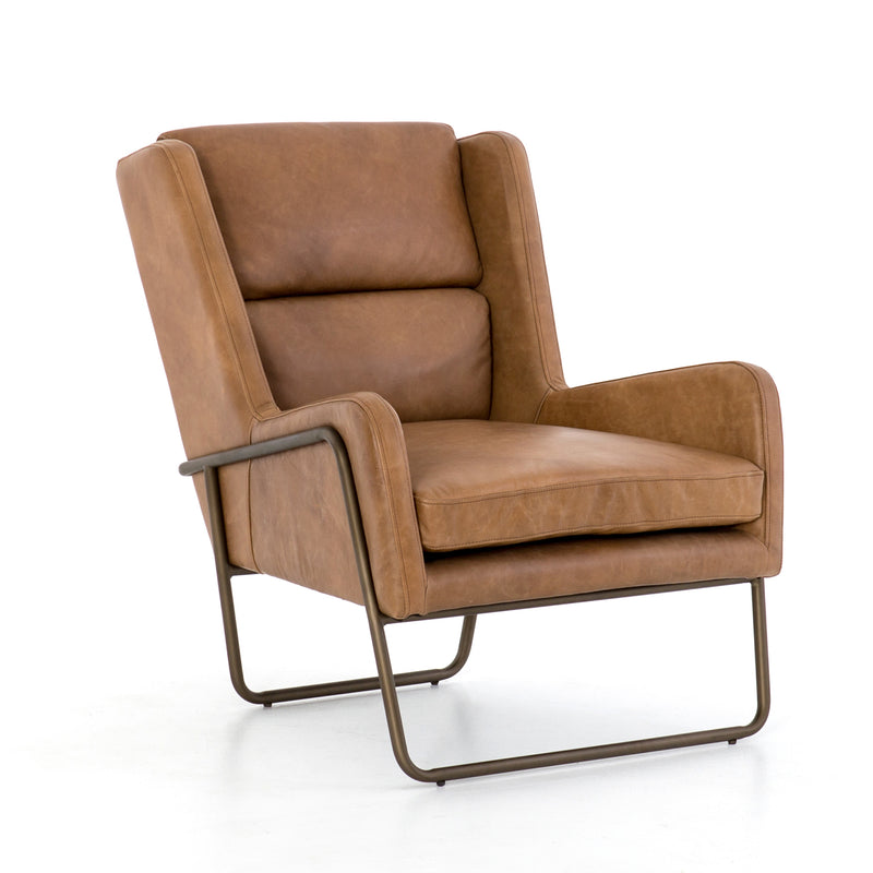 Brunswick Cognac Leather Armchair