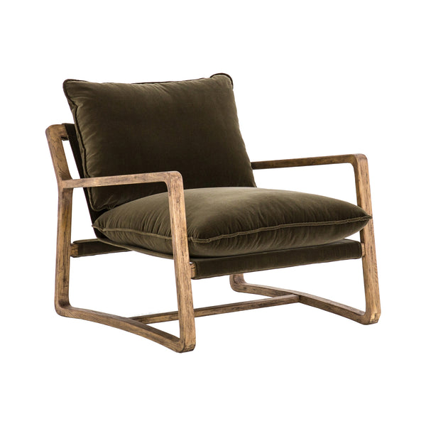 Spade Olive Armchair- Warehouse Sale