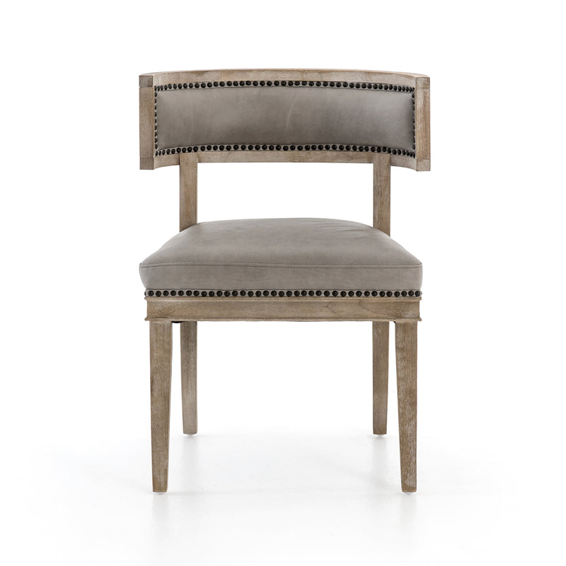 Joe Dining Chair - Light Grey Leather