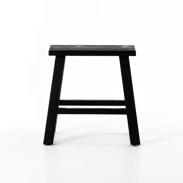 Amia Rectangular Accent Stool - Black