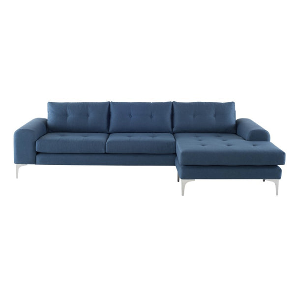 Clayton Sectional Lagoon Blue