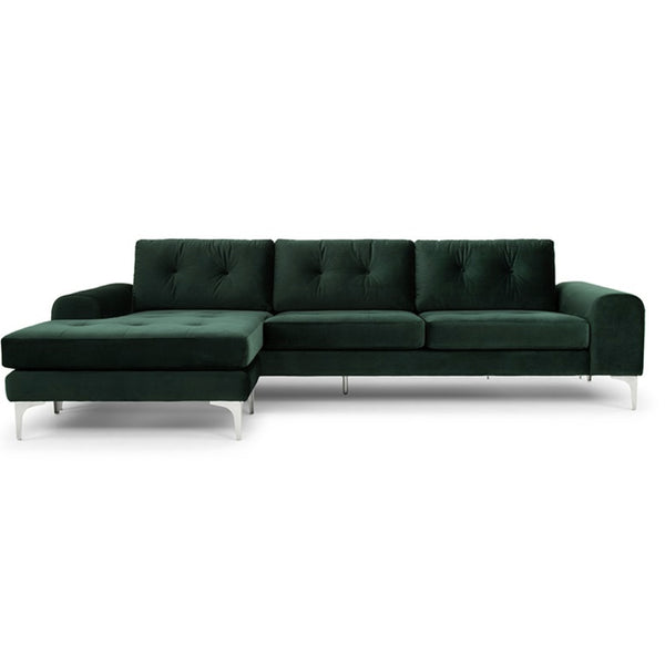 Clayton Sectional Emerald Green