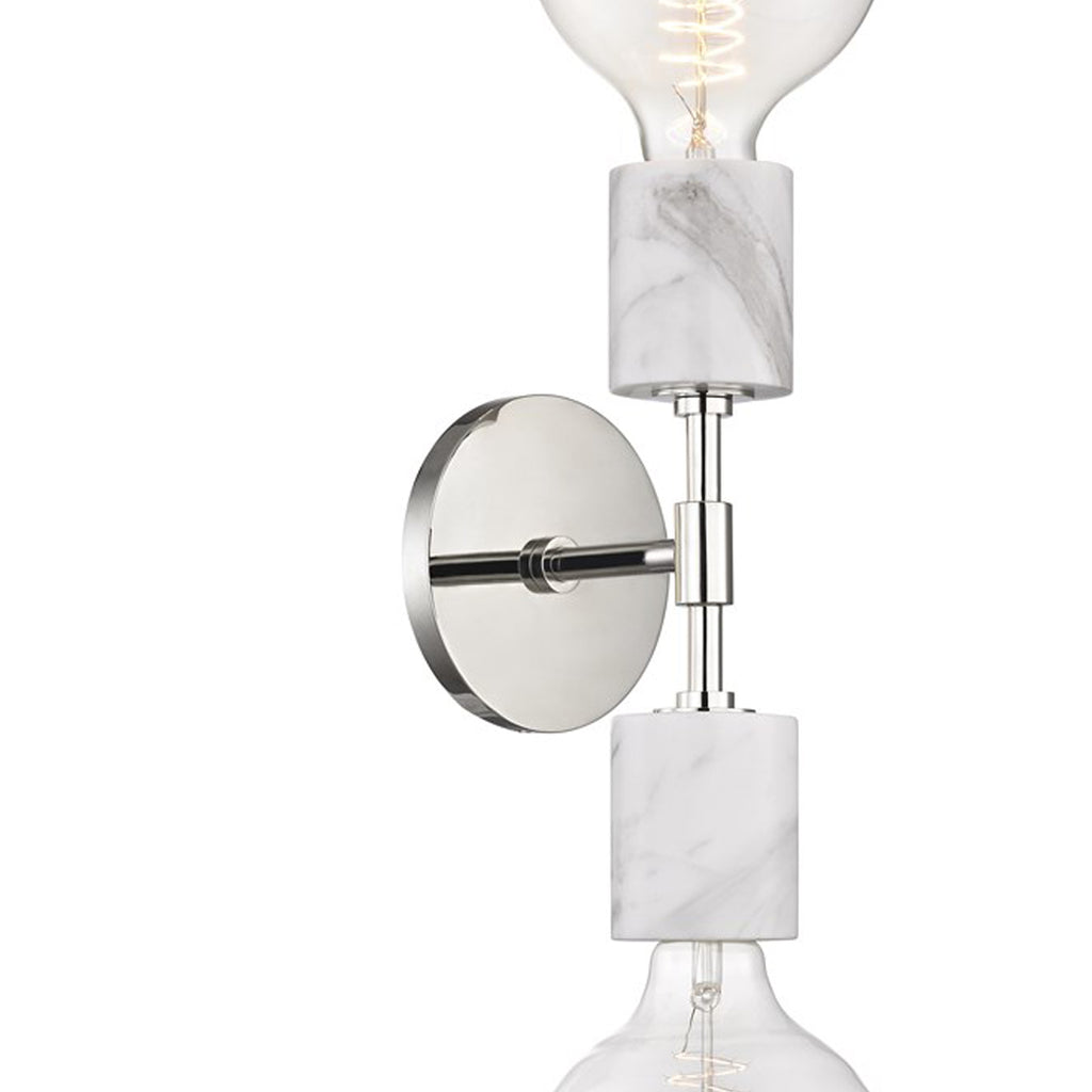 Coburg Double Sconce - Polished Nickel