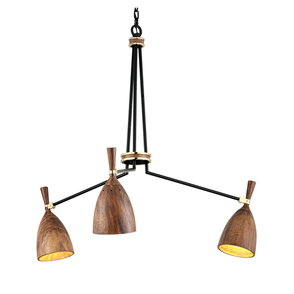 Easby Chandelier I - Wood
