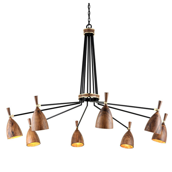 Easby Chandelier III - Wood