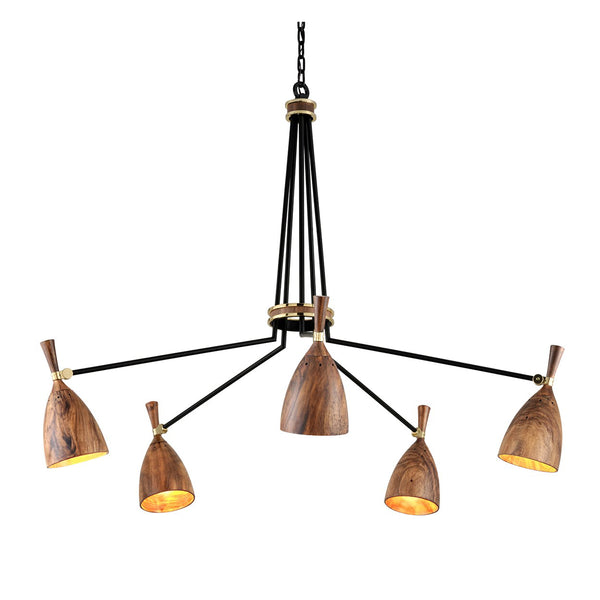 Easby Chandelier II - Wood
