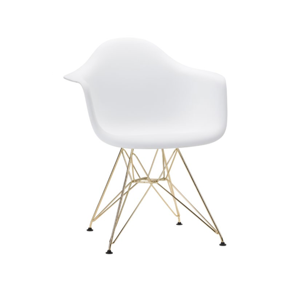 Eiffel Armchair White and Gold