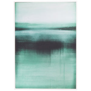 Abstract Aqua Canvas