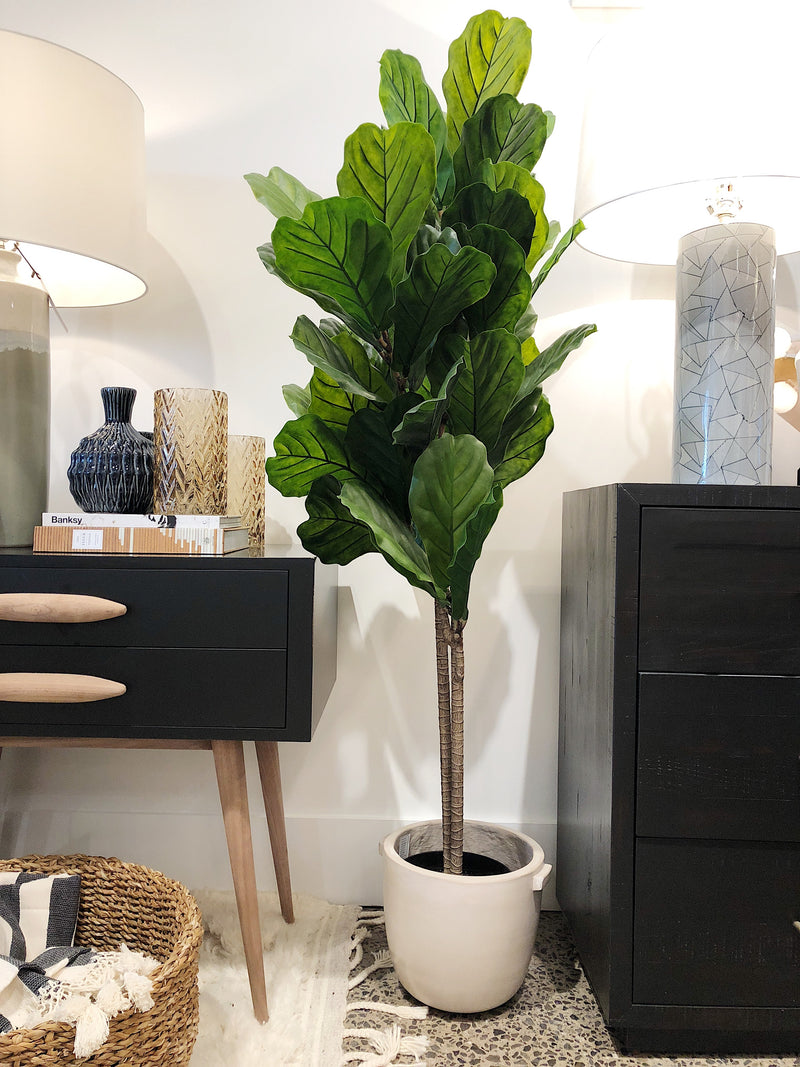 Faux Fiddle Leaf Plant