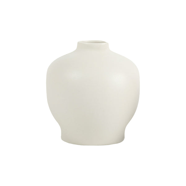 Florence White Vase - Wide