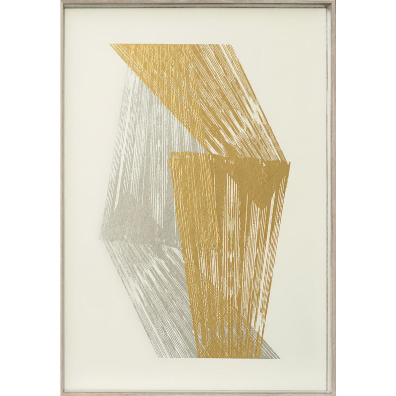 Gold and Silver Stripes Framed Print