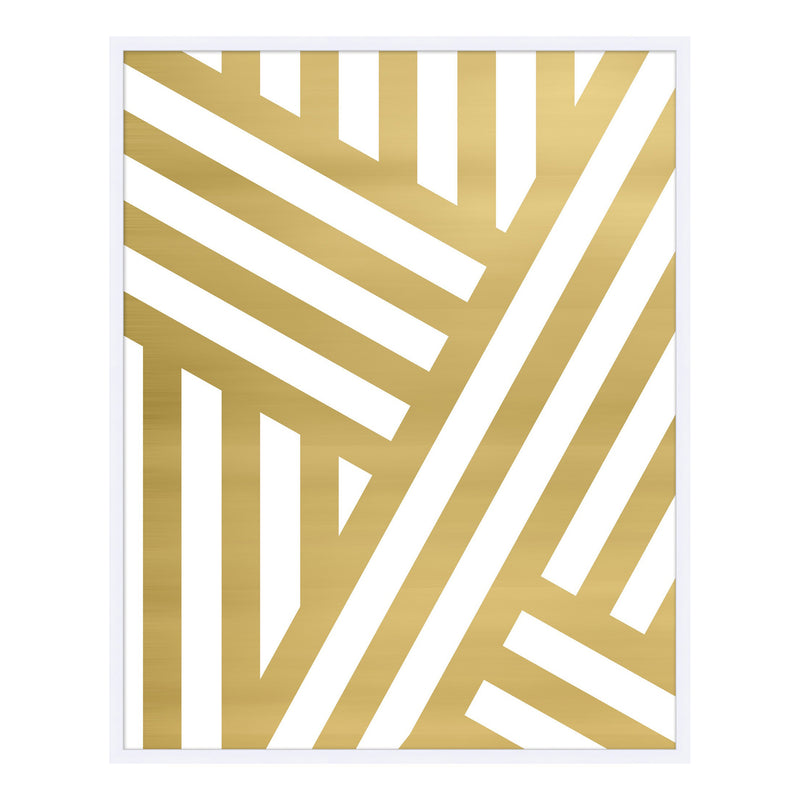 Gold Stripe I Framed Print