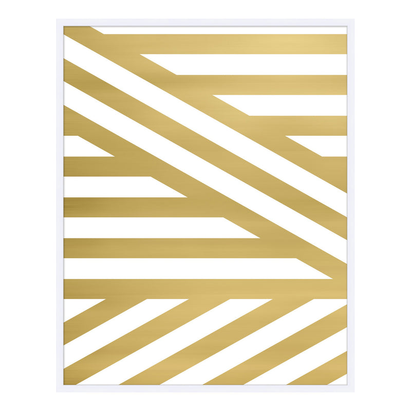 Gold Stripe II Framed Print